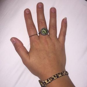 Jewelry - Green and Silver Ring